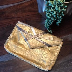Vintage envelope clutch purse